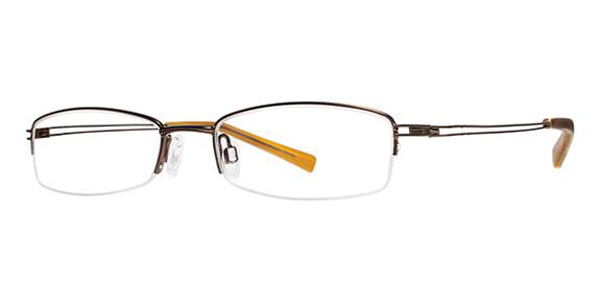 modz semi rectangle eyeglasses temple 140 pisa